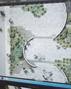 landscape architecture masterplan On that photoshop all day everyday. - featured work by qidili Landscape Drawings, Cool Landscapes, Landscape Photos, Landscape Design Plans, Landscape Architecture Design, Park Landscape, Urban Landscape, Parking Plan, Country Landscaping