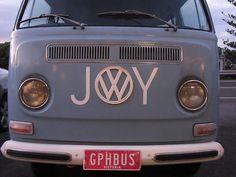 A hippy combi van
