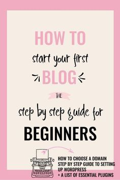 How To Start a Blog: A Step by Step Guide for Beginners. An easy to follow & detailed guide on exactly how to start a blog, purchase hosting & step up WordPress. It also includes a list of useful resources & plugins. via /creativencoffee/