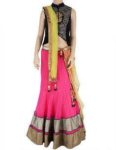 A Perfect lehenga choli to wear on your sibling's wedding! Product code - G3-WLC1082 Price - INR 9650/-
