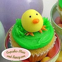 I can try to make this fondant peep for his cake topper, but a little larger.