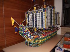 front view pirate ship