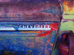 Old Chevrolet Truck Emblem rusty colors New by NewMexicoMtnGirl, $60.00
