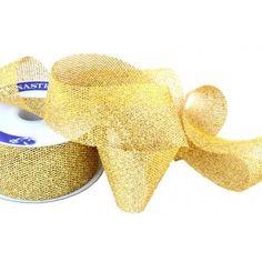 Nastri decorativi - Nastro Glitter Rete Oro mm 15 metri 15 - un prodotto unico…
