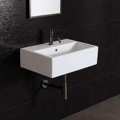 Bissonnet Area Boutique Wall Mount Bathroom Sink U0026 Reviews | Wayfair. $449,  No Holes