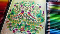 Paradies im Zauberwald #johannabasford #enchantedforest #adultcoloring #adultcoloringbook #malenfürerwachsene #arttherapy