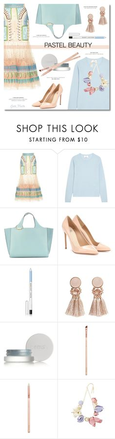 """So Sweet: Pastel Sweaters Nº 2 ... 2018"" by greta-martin on Polyvore featuring Temperley London, Allude, Victoria Beckham, Francesco Russo, Marc Jacobs, MANGO, rms beauty, ZOEVA, Marni and Elegant"
