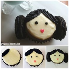 Star Wars Princess Leia Cupcakes recipe