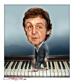 The Beatles (The Original Studio Recordings) Stereo Box Set Funny Caricatures, Celebrity Caricatures, Celebrity Drawings, Cartoon Faces, Funny Faces, Cartoon Art, Paul Mccartney, Beatles Art, The Beatles