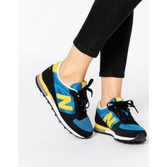 New Balance 430 Blue Trainers (€72) ❤ liked on Polyvore featuring shoes, sneakers, blue, new balance, blue sneakers, new balance shoes, blue shoes and new balance trainers