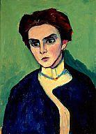 Gabriele Münter: Bildnis Frau von Hartmann [Olga von Hartmann (1885 - 1979)], 1910 Oil on board 53 x 40 cm
