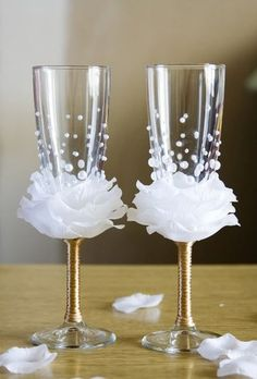 Wine glasses are a part of most occasions and you can make them look decorative and attractive by designing them with your creativity. Just add anything that you think will look beautiful on the g...
