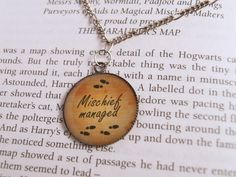 Mischief Managed necklace (Harry Potter)