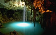 The Cenote Route is found near Cancun and Puerto Morelos. These cenotes (sinkholes) are a natural marvel feeding from underground streams and rivers that are all under the Yucatan peninsula.