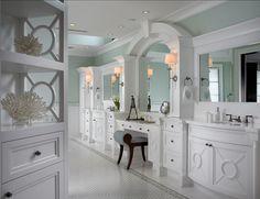 Bathroom Cabinety. Great ideas for bathroom cabinetry. #Bathroom #Cabinetry #Interiors