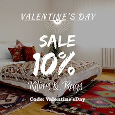 Head over to our site and purchase your dream rug in 10% discount today!!! Use the code Valentine'sDay   #rugs #kilims #carpets #carpet #interior #floor #flooring #bedrooms #design #designing #decoration #sale #valentinesday #valentinesdaygiftideas #gifts #giftideas