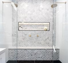Marble feature tiles