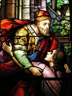The Prodigal Son (The Mayer Company, 1907, Stained glass, Cathedral of Saint John the Baptist, Charleston)