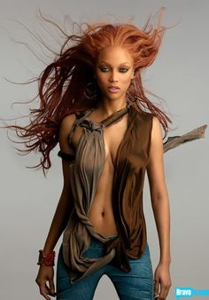 America's Next Top Model// Love Tyra with red hair.