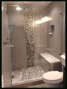 Small Bathroom Shower Tile Design: Completed Shower Door In Denver, Colorado Bathroom Design Small, Bathroom Interior Design, Modern Bathroom, Bathroom Mirrors, Minimalist Bathroom, Bathroom Faucets, Small Bathroom Showers, Seashell Bathroom, Bathroom Ideas On A Budget Modern