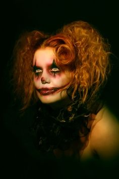 Scary Clown Girl Photo: By Gerry at Frankie & Gerry's Retro Studio Model: Frankii Wilde MUA: Nelle Make Up