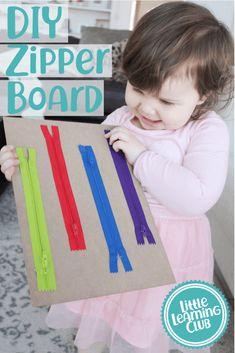 DIY Zipper Board- Fine Motor Skill Activity