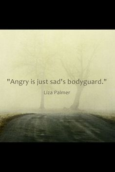 Anger is sadness. It's not inferior just because you fear it. It's just another expression.