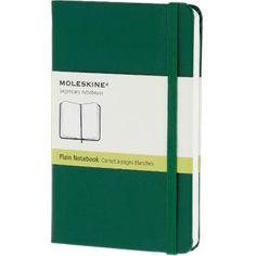 Carnet Moleskine Petit format 9 x 14 cm Pages blanches Couverture rigide Vert