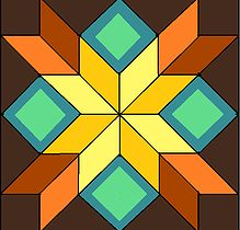 Design Gallery for Customer Barn Quilts or Quilt Squares for Outdoor or Indoor Use. Barn Quilt Headquarters of the Blue Ridge Quilt Square Patterns, Barn Quilt Patterns, Square Quilt, Barn Quilt Designs, Quilting Designs, Star Quilts, Quilt Blocks, 24 Blocks, Rustic Quilts