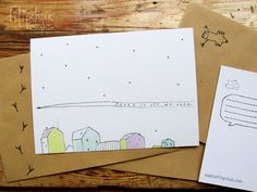 Items similar to Postcard Pease on Etsy My Arts, Etsy, Illustrations, Illustration, Paintings