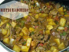 Receta de Comida Mexicana: Guiso de Bistec Ranchero con Papas |