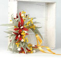 Australian Wedding Flower Crown Wildflower Head by VelvetTeacup, $105.00