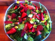 God mad og søde sager: Salat af Jordbær, vandmelon, avokado og friske asparges