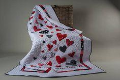 MPM / Srdcový quilt prikrývka