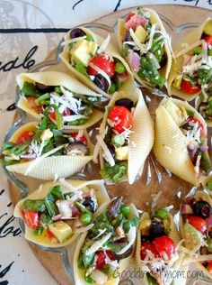 Salada Recheado conchas.