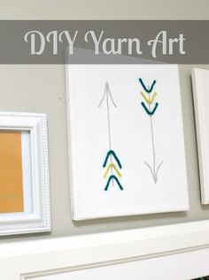 DIY Yarn Art....so simple.  I have a great idea for this!