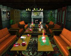 Weihnachtsdekoration im Wohnzimmer 2  Christmas decoration in the living room 2
