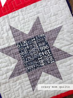 crazy mom quilts: made in America.  Closeup of quilting.