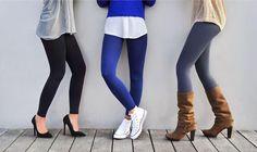 Noir, bleu, gris, aubergine ... Choisissez votre leggings en fonction de vos goûts smile emoticon Rendez-vous sur www.bslim-touch.com B'Slim Touch, Boostez votre silhouette avec style ! #shaper #leggings #fashion #trendy #nomorecellulite #portetonbslim
