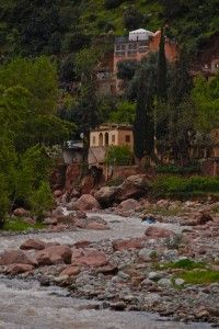 Rafting in Morocco - scenery down the Ourika river outside Marrakech