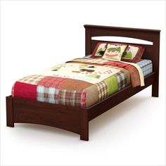 South Shore Sweet Morning Twin Bed in Royal Cherry - 3246189