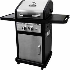 Top-rated grill for smaller patios and decks -- Dyna-Glo Smart Space 2 Burner Gas Grill