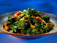 Southern Collard Greens recipe from Guy Fieri via Food Network Best Collard Greens Recipe, Southern Collard Greens, Top Recipes, Cooking Recipes, Healthy Recipes, Cajun Recipes, Side Recipes, Delicious Recipes, Healthy Foods