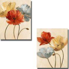 @Overstock.com - Nan 'Poppy Palette I and II' 2-piece Canvas Set - Artist: NanTitle: Poppy Palette I and IIProduct Type: 2-piece Canvas Set  http://www.overstock.com/Home-Garden/Nan-Poppy-Palette-I-and-II-2-piece-Canvas-Set/8036022/product.html?CID=214117 $117.81