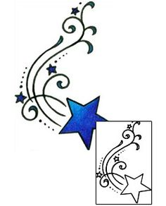 Shooting Star Tattoos AAF-11011 Created by Andrea Ale