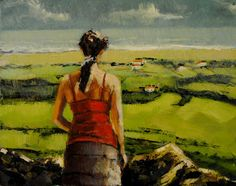 """Life Painted Daily: Ireland 8x10 oil on board in 3"""" darkwood frame"""