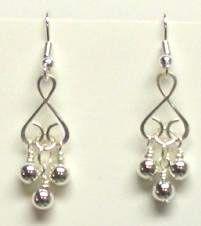 Heart Link Bracelet and Earrings