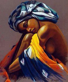Super Ideas for black art painting Art Black Love, Black Girl Art, Art Girl, Black Art Painting, Black Artwork, African Beauty, African Women, African American Artwork, Afrique Art
