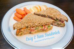 Easy E Tuna Sandwich THM Trim Healthy Mama E Meal from thecoersfamily.com