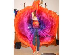 Sahariah's Silk Belly Dance Veils Original Killer Moths 2 8MM Half Circle Veils Silks by Sahariah by SilksbySahariah on Etsy